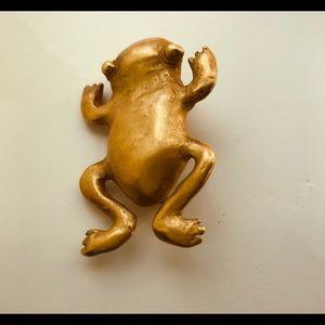 24k Gold Filled Frog Pin/Brooch